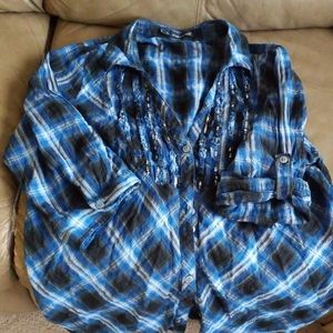 Maurices 3/4 sleeve cotton button down